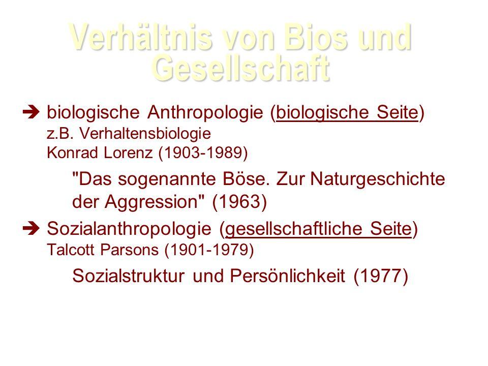 Verhältnis von Bios und Gesellschaft