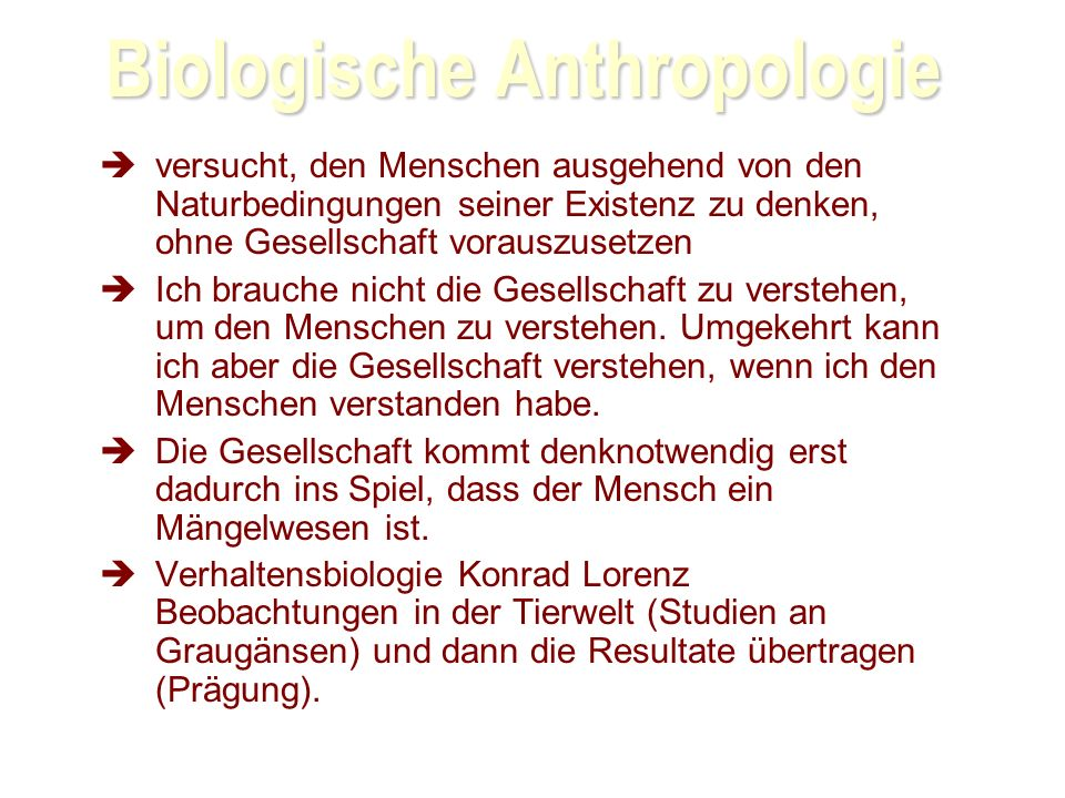 Biologische Anthropologie