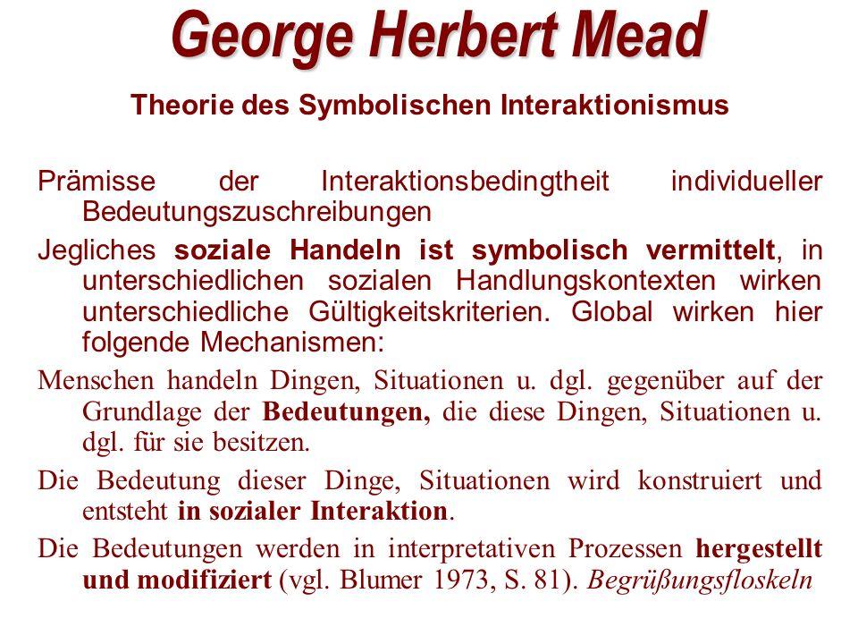 Theorie des Symbolischen Interaktionismus
