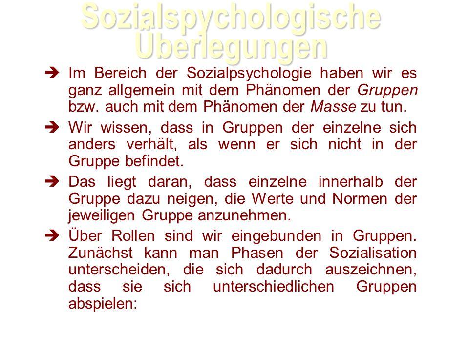 Sozialspychologische Überlegungen