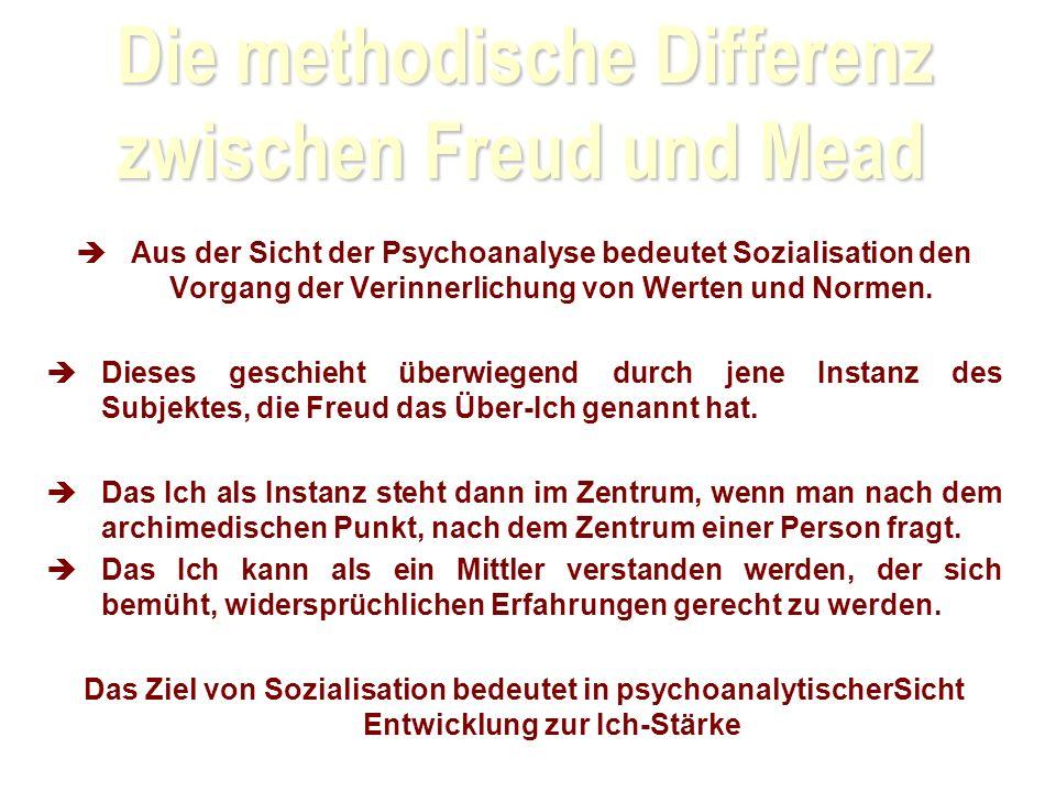 Die methodische Differenz zwischen Freud und Mead