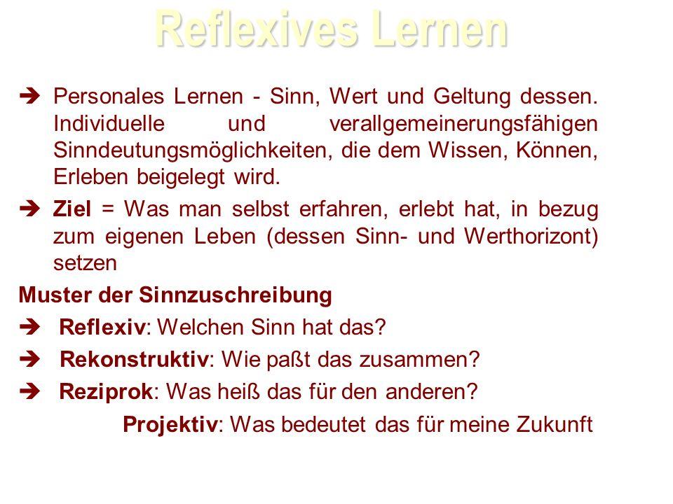 28.03.2017 Reflexives Lernen.