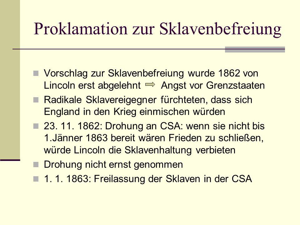 Proklamation zur Sklavenbefreiung