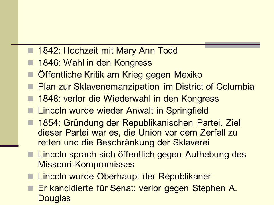 1842: Hochzeit mit Mary Ann Todd
