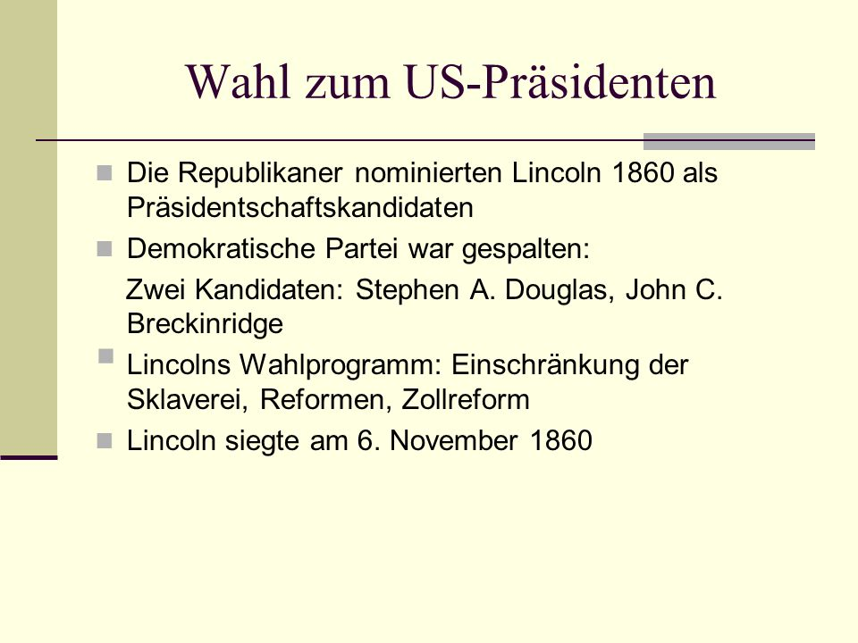 Wahl zum US-Präsidenten