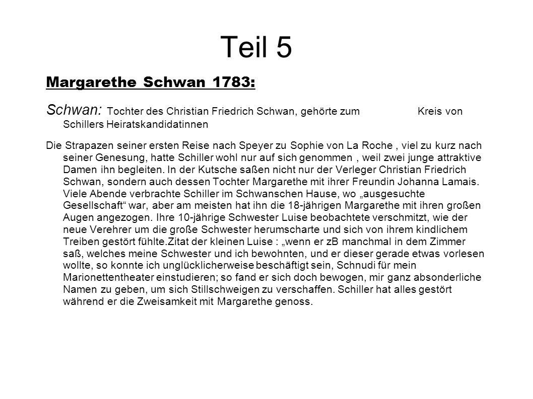 Teil 5 Margarethe Schwan 1783: