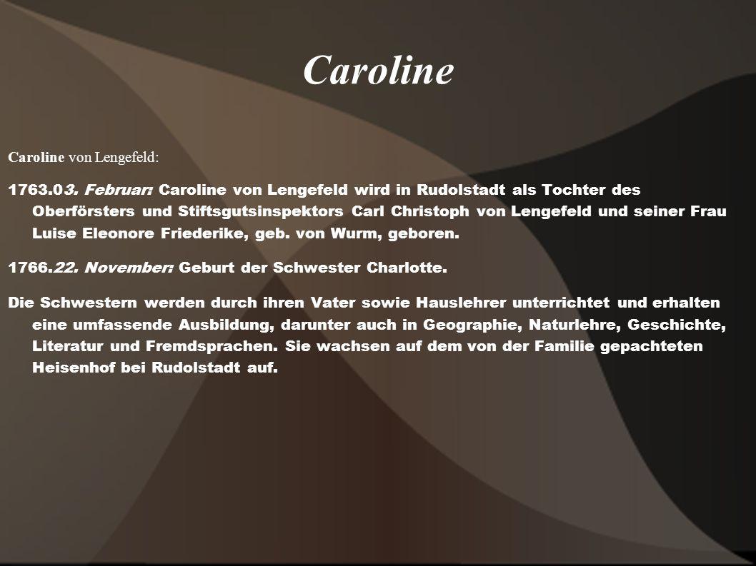 Caroline Caroline von Lengefeld: