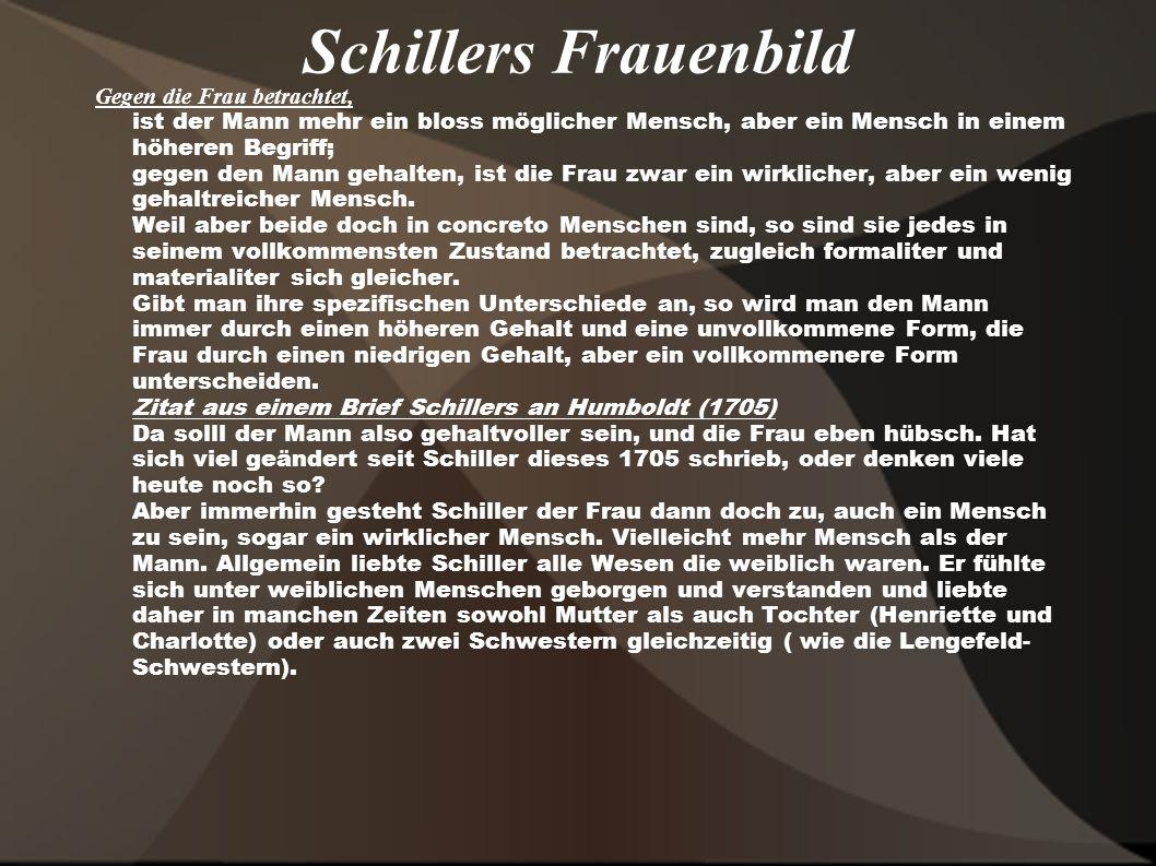 Schillers Frauenbild
