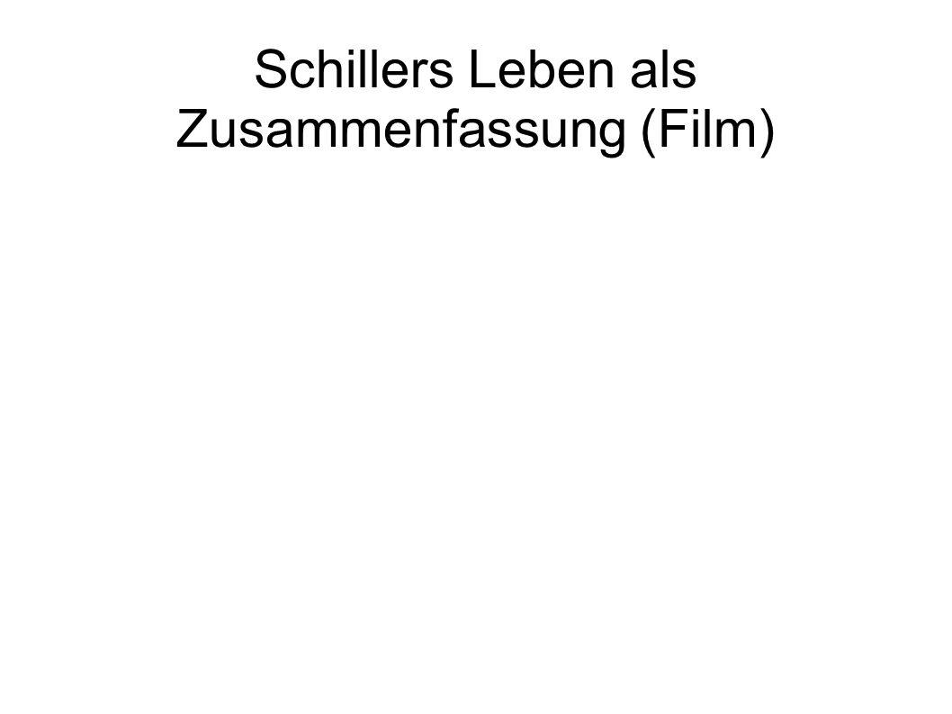 Schillers Leben als Zusammenfassung (Film)