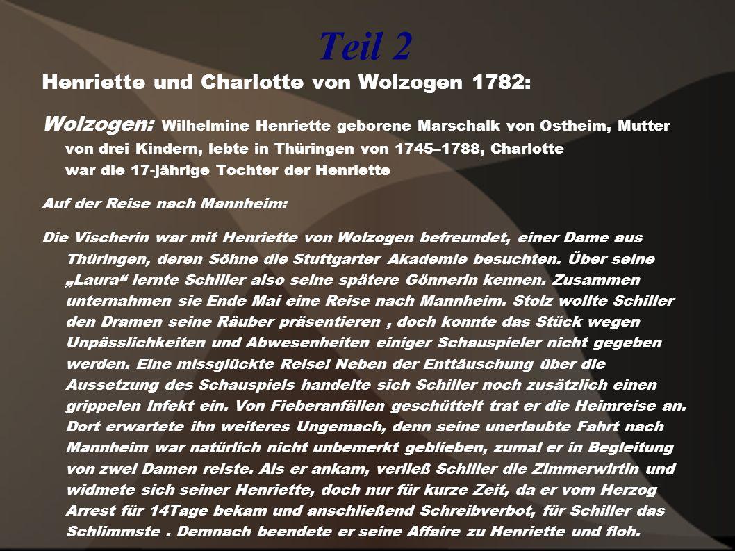 Teil 2 Henriette und Charlotte von Wolzogen 1782: