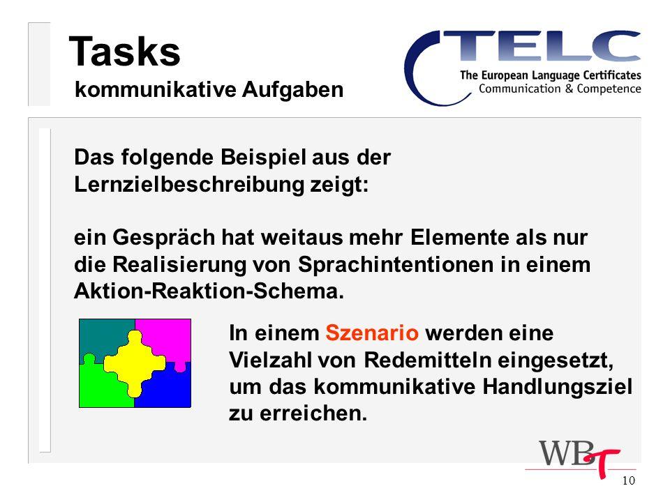 Tasks kommunikative Aufgaben