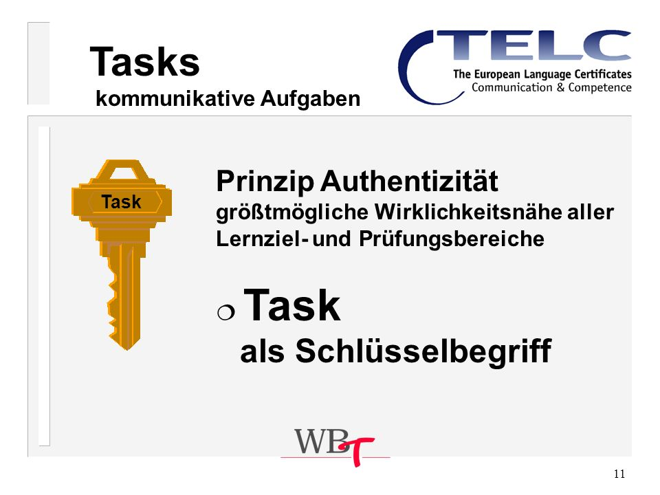 Tasks Prinzip Authentizität kommunikative Aufgaben