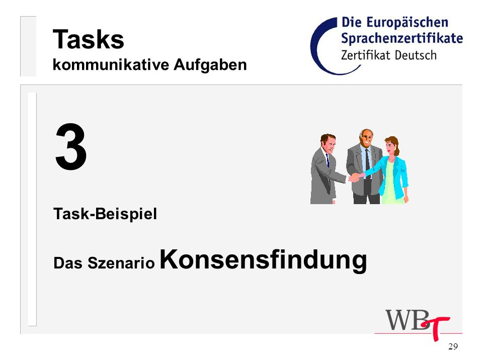 3 Tasks kommunikative Aufgaben Task-Beispiel