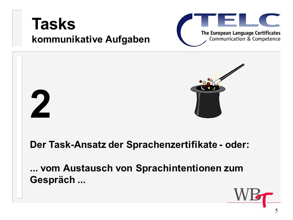 2 Tasks kommunikative Aufgaben