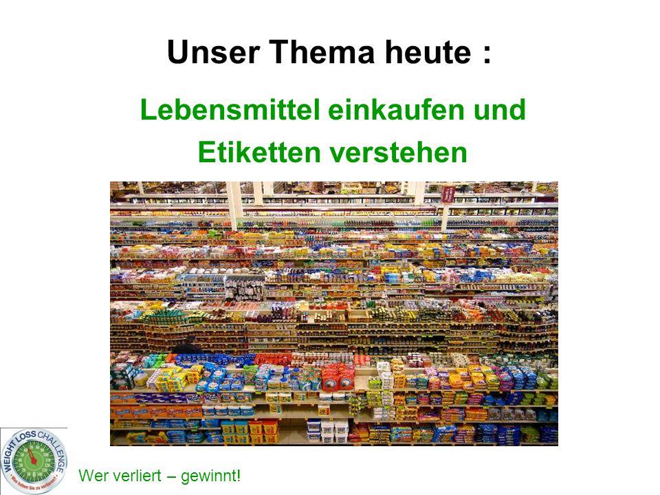 Lebensmittel einkaufen und