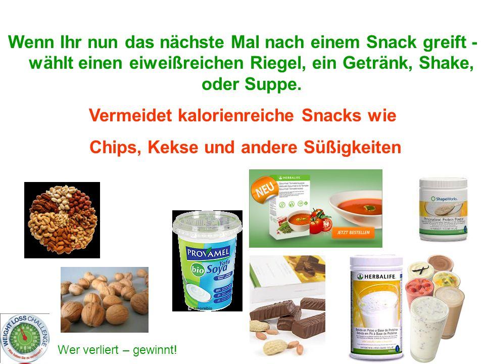 Vermeidet kalorienreiche Snacks wie