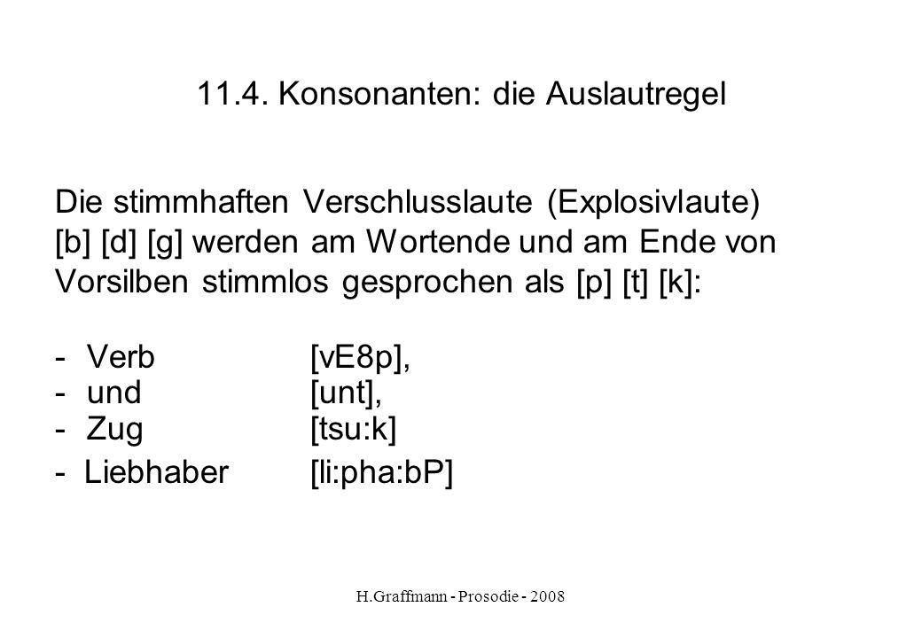 11.4. Konsonanten: die Auslautregel