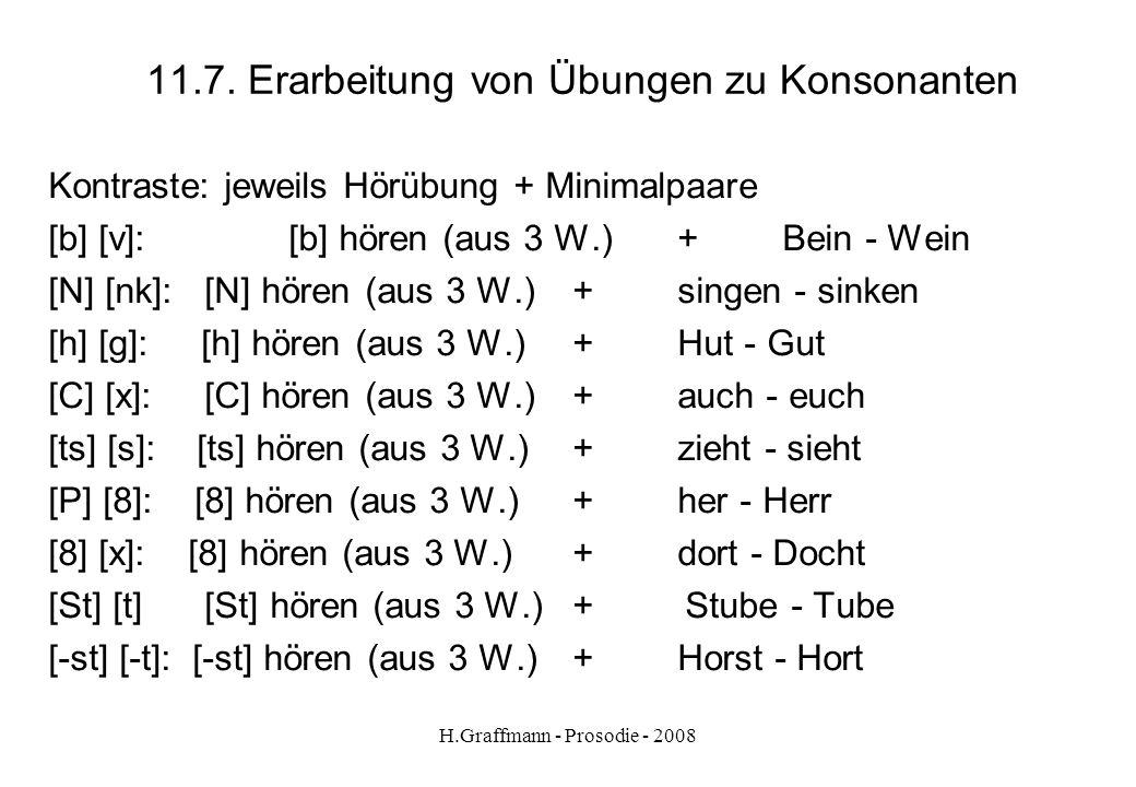 11.7. Erarbeitung von Übungen zu Konsonanten