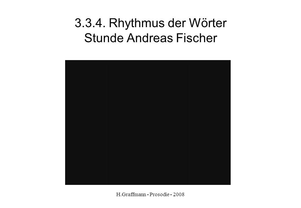 3.3.4. Rhythmus der Wörter Stunde Andreas Fischer