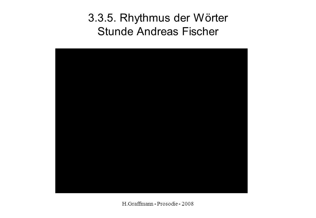 3.3.5. Rhythmus der Wörter Stunde Andreas Fischer