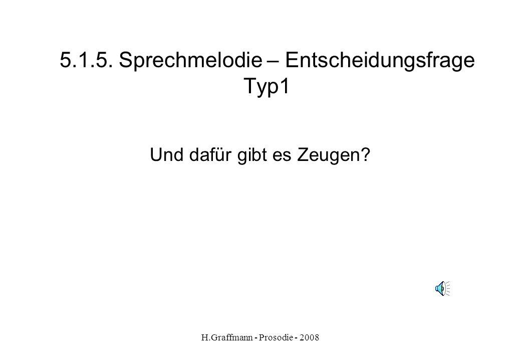 5.1.5. Sprechmelodie – Entscheidungsfrage Typ1