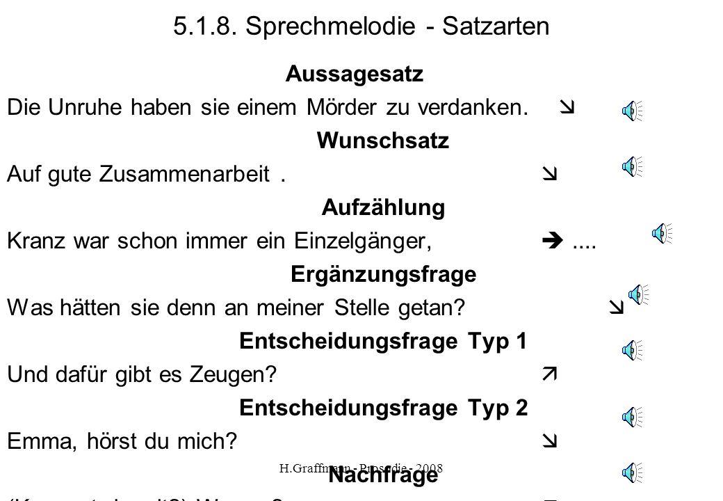 5.1.8. Sprechmelodie - Satzarten
