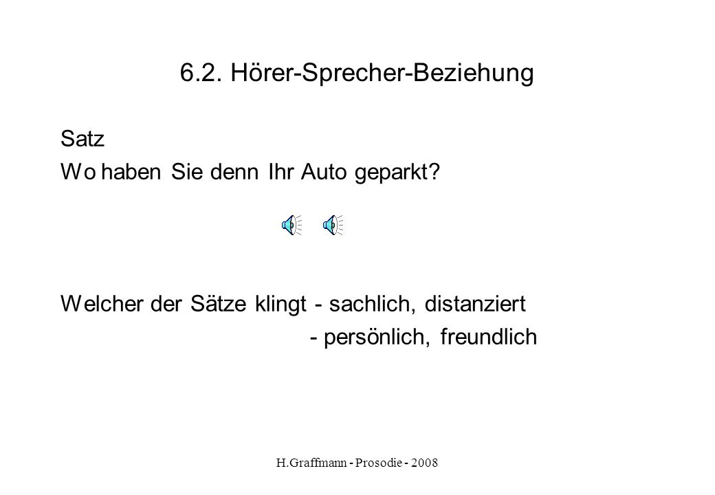 6.2. Hörer-Sprecher-Beziehung