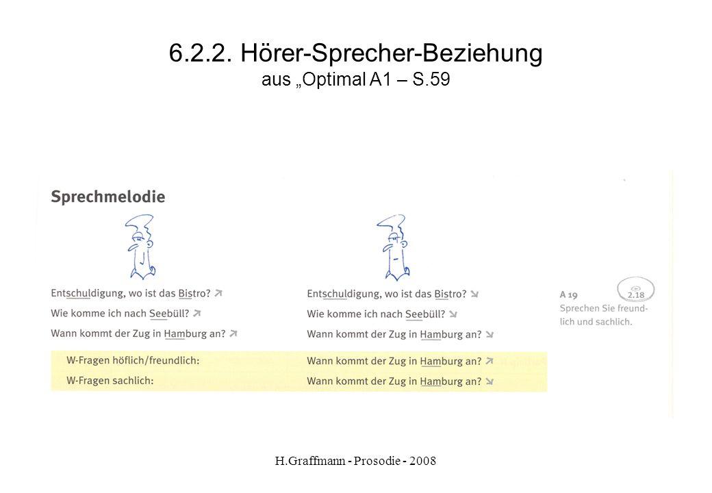 """6.2.2. Hörer-Sprecher-Beziehung aus """"Optimal A1 – S.59"""