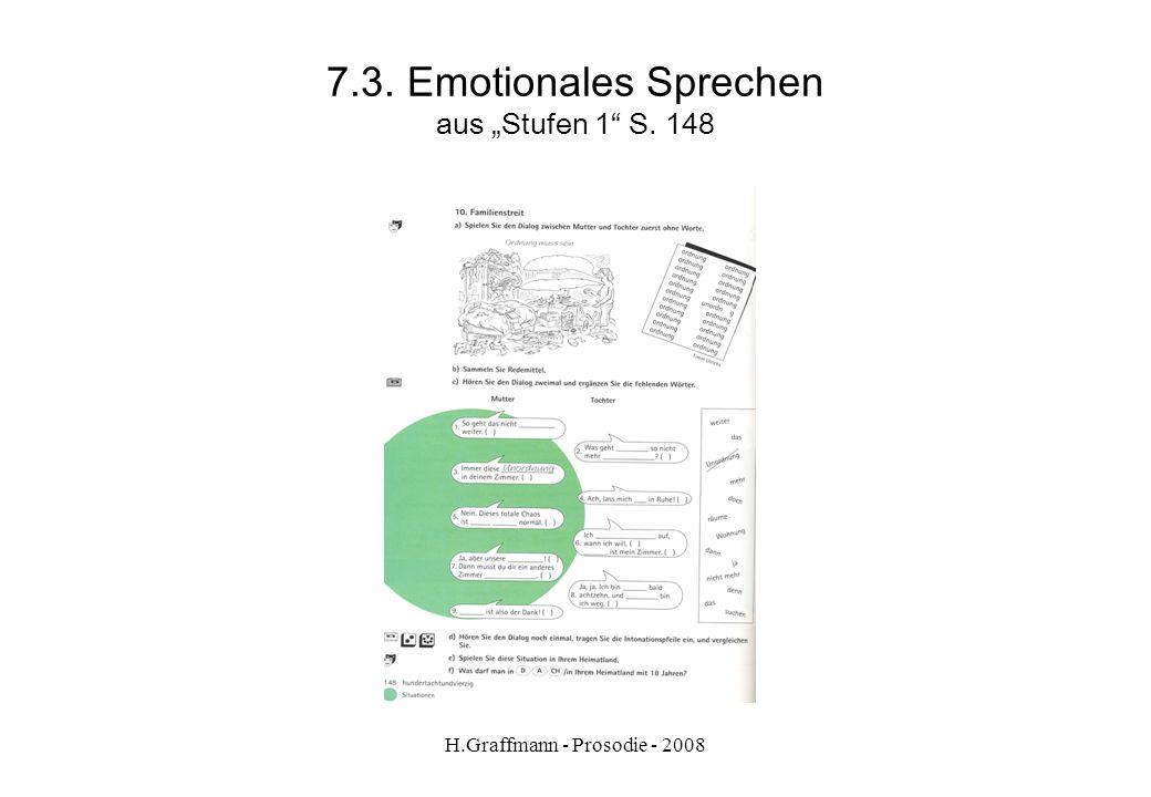 """7.3. Emotionales Sprechen aus """"Stufen 1 S. 148"""