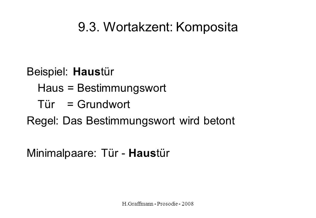 9.3. Wortakzent: Komposita