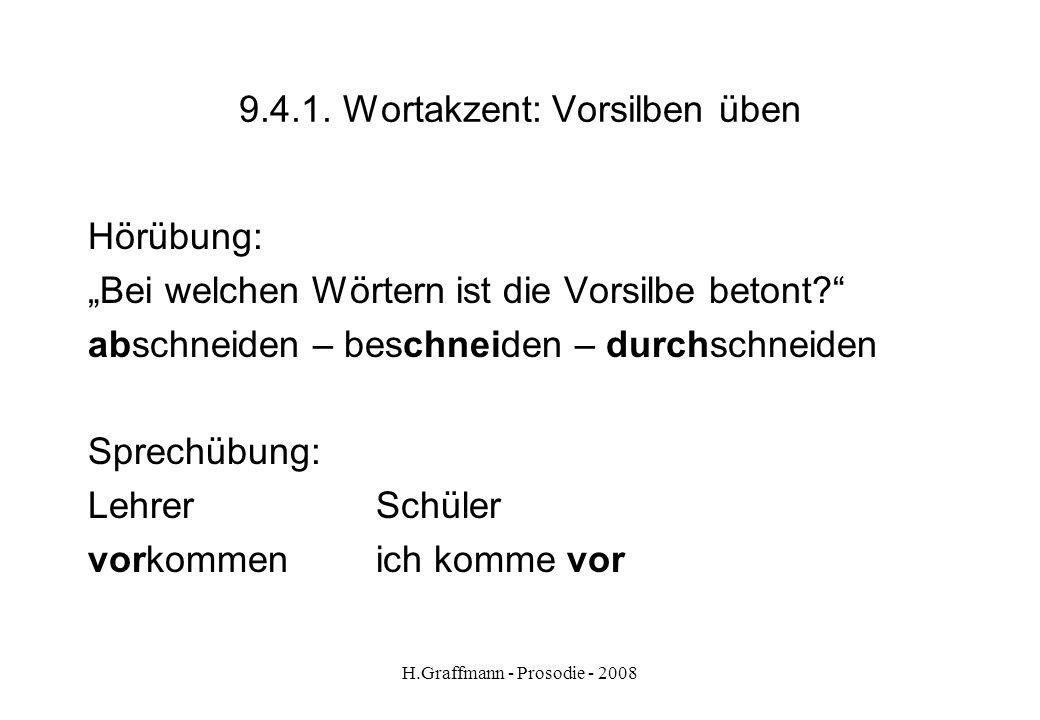 9.4.1. Wortakzent: Vorsilben üben