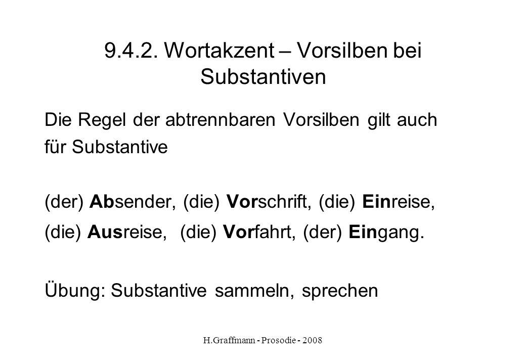 9.4.2. Wortakzent – Vorsilben bei Substantiven