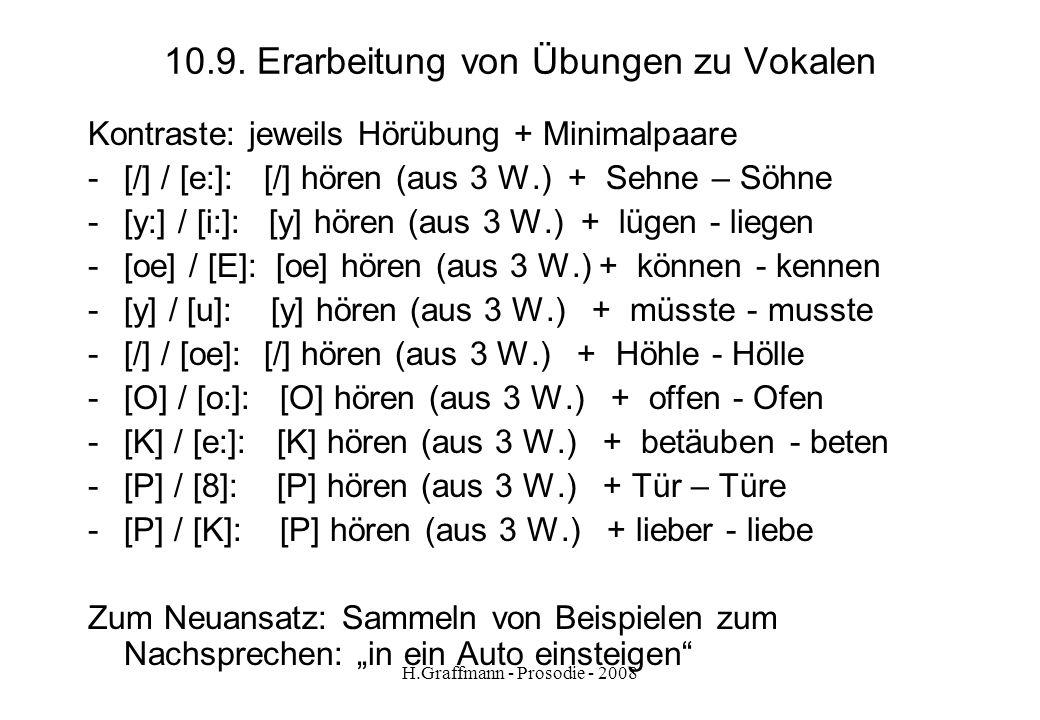 10.9. Erarbeitung von Übungen zu Vokalen