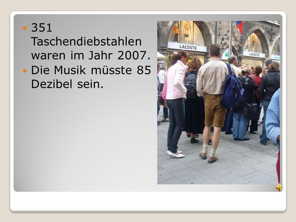 351 Taschendiebstahlen waren im Jahr 2007.