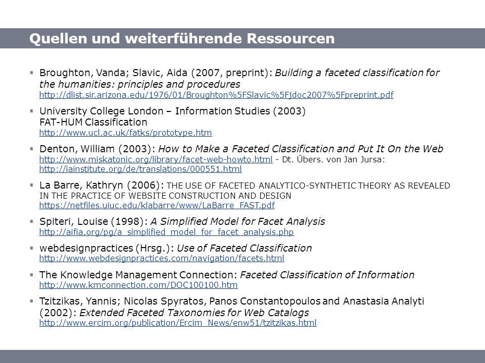 Quellen und weiterführende Ressourcen