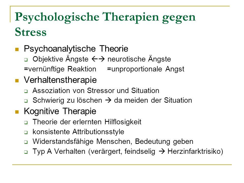 Psychologische Therapien gegen Stress