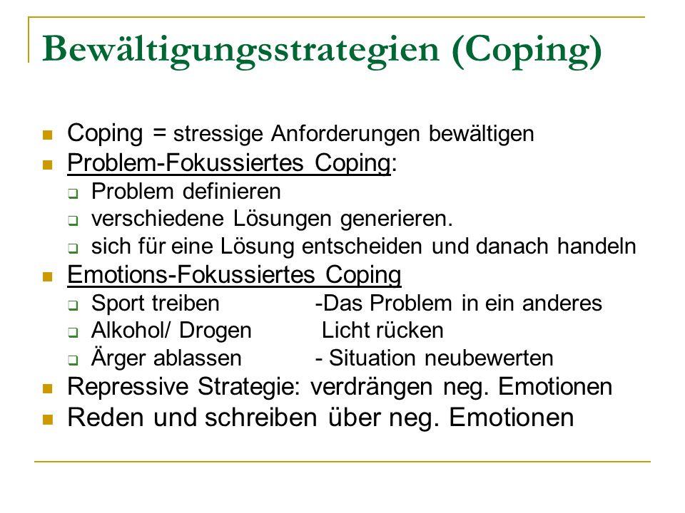Bewältigungsstrategien (Coping)