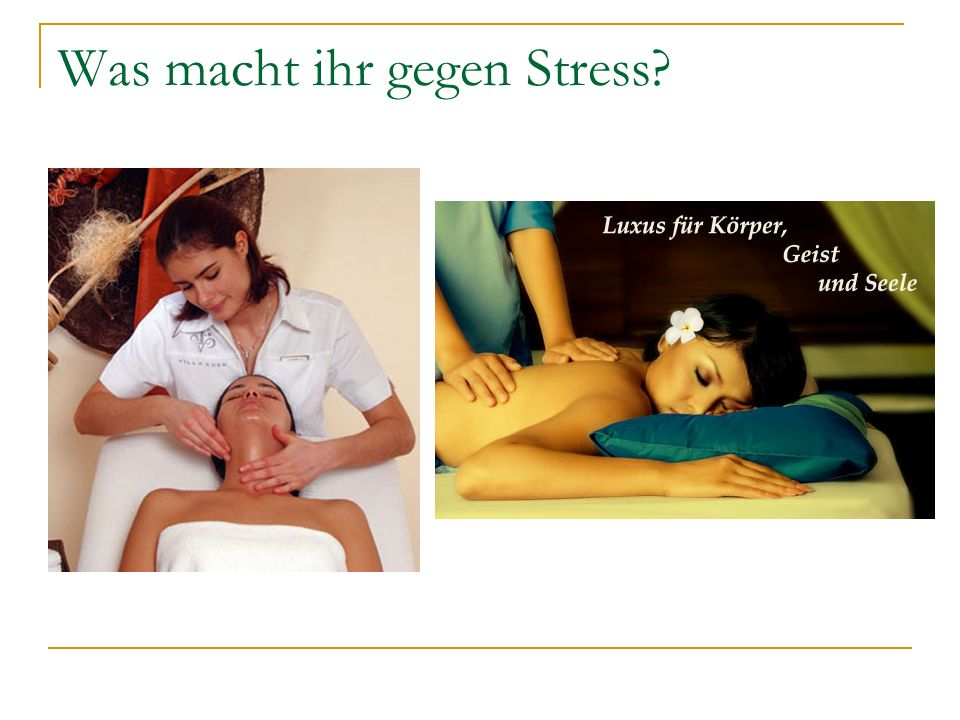 Was macht ihr gegen Stress