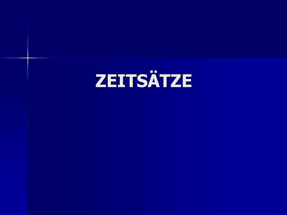 ZEITSÄTZE
