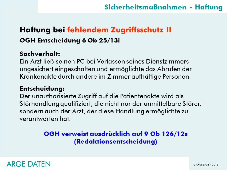 OGH verweist ausdrücklich auf 9 Ob 126/12s (Redaktionsentscheidung)