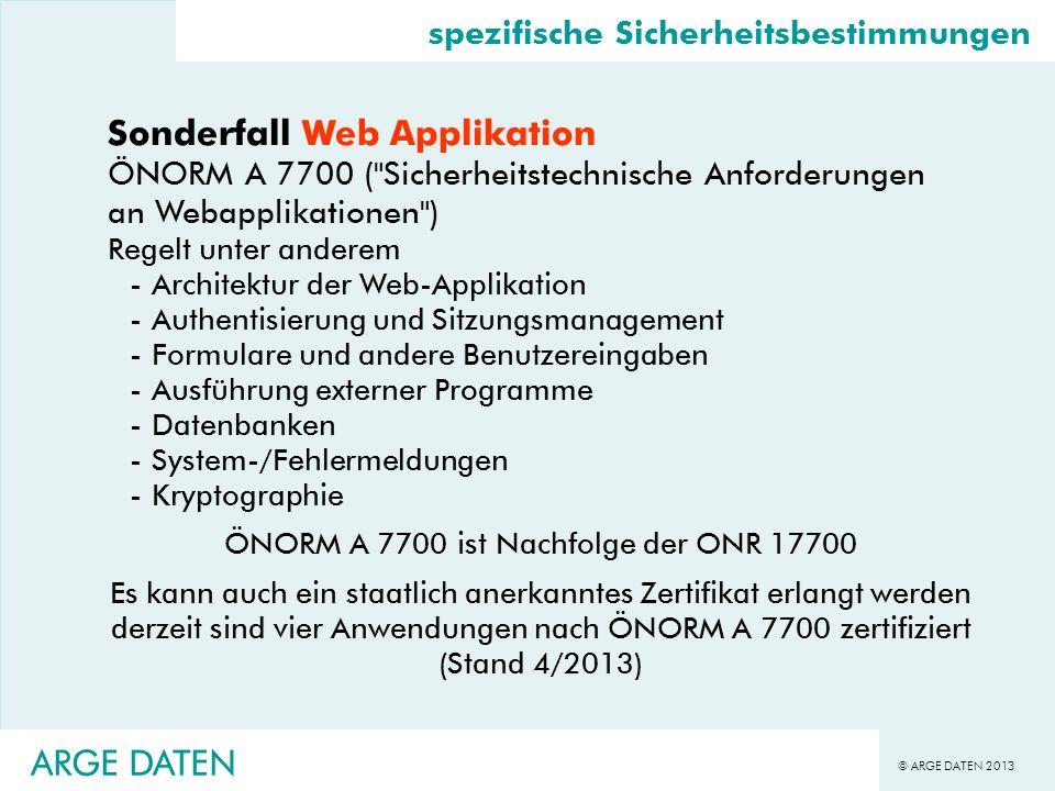 Sonderfall Web Applikation