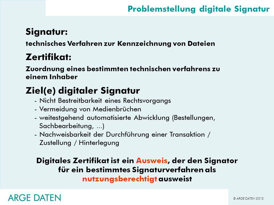 Ziel(e) digitaler Signatur