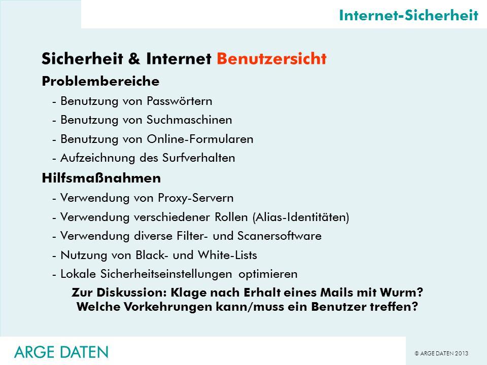 Sicherheit & Internet Benutzersicht