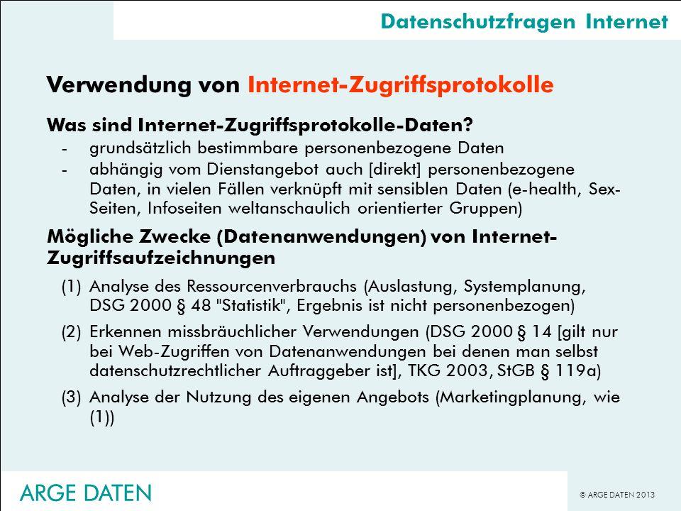 Verwendung von Internet-Zugriffsprotokolle