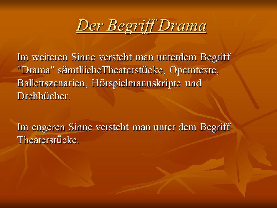 Der Begriff Drama