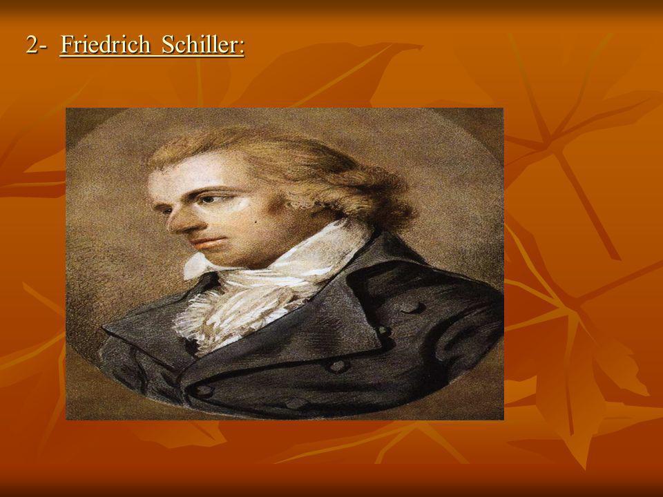 2- Friedrich Schiller: