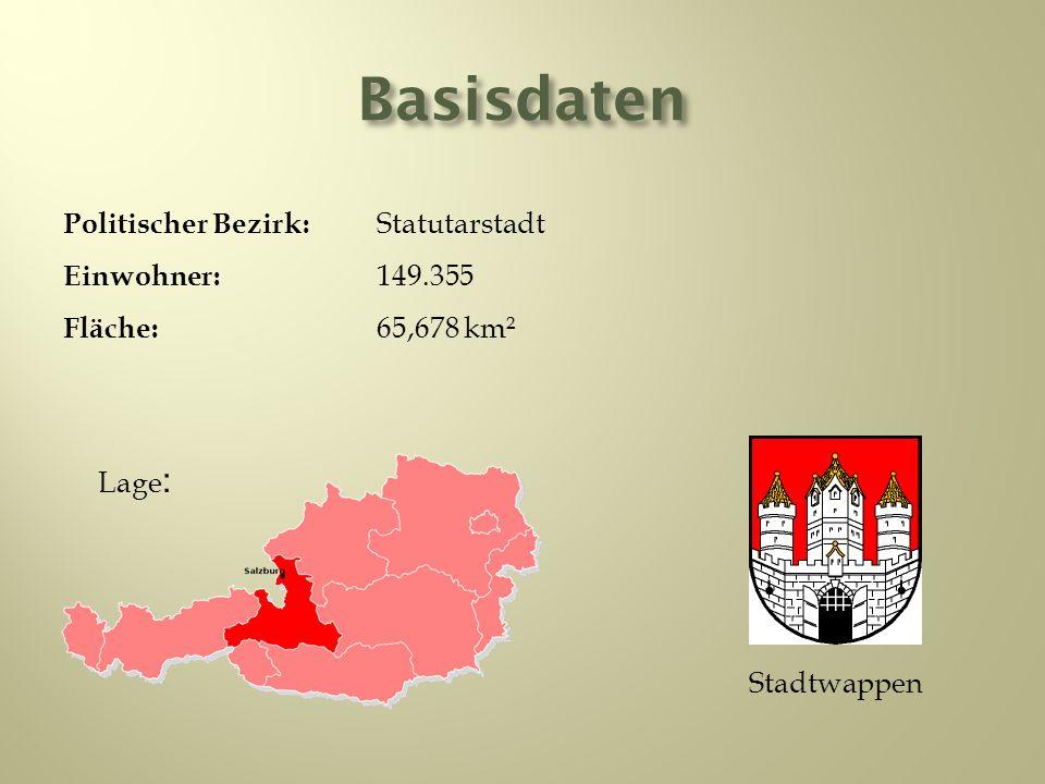 Basisdaten Politischer Bezirk: Statutarstadt Einwohner: 149.355