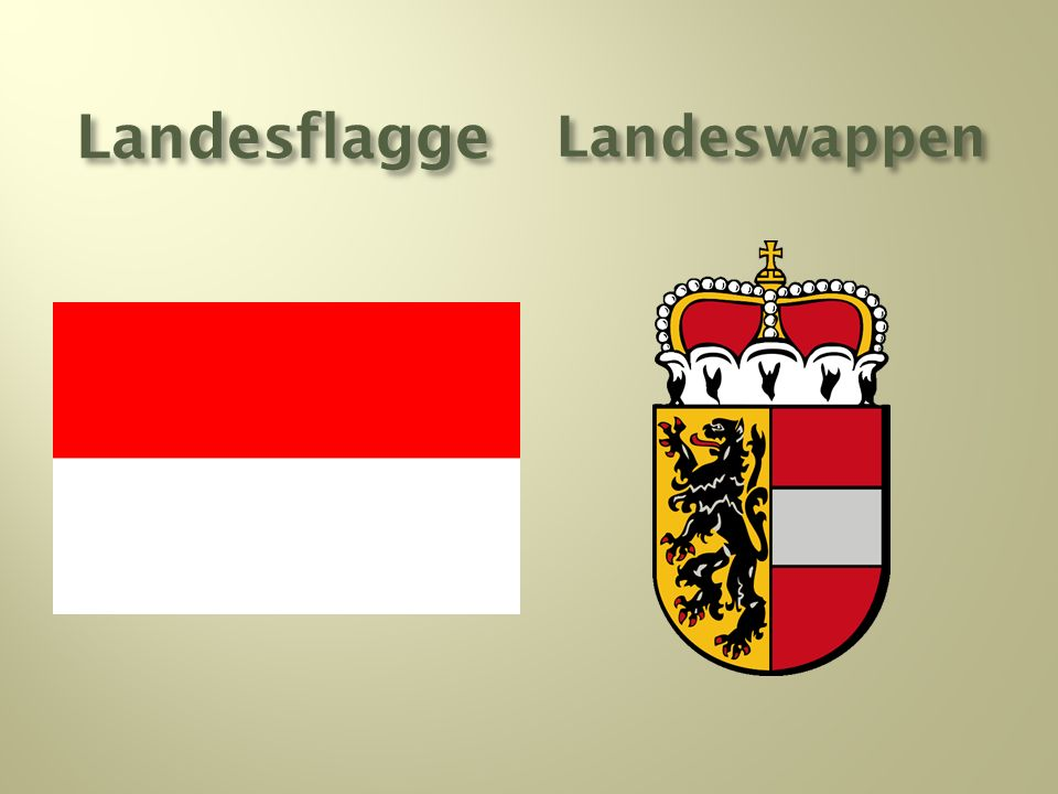 Landesflagge Landeswappen