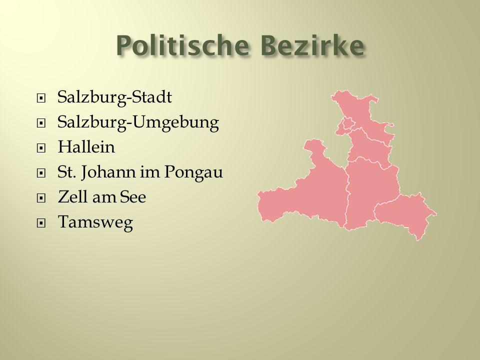 Politische Bezirke Salzburg-Stadt Salzburg-Umgebung Hallein