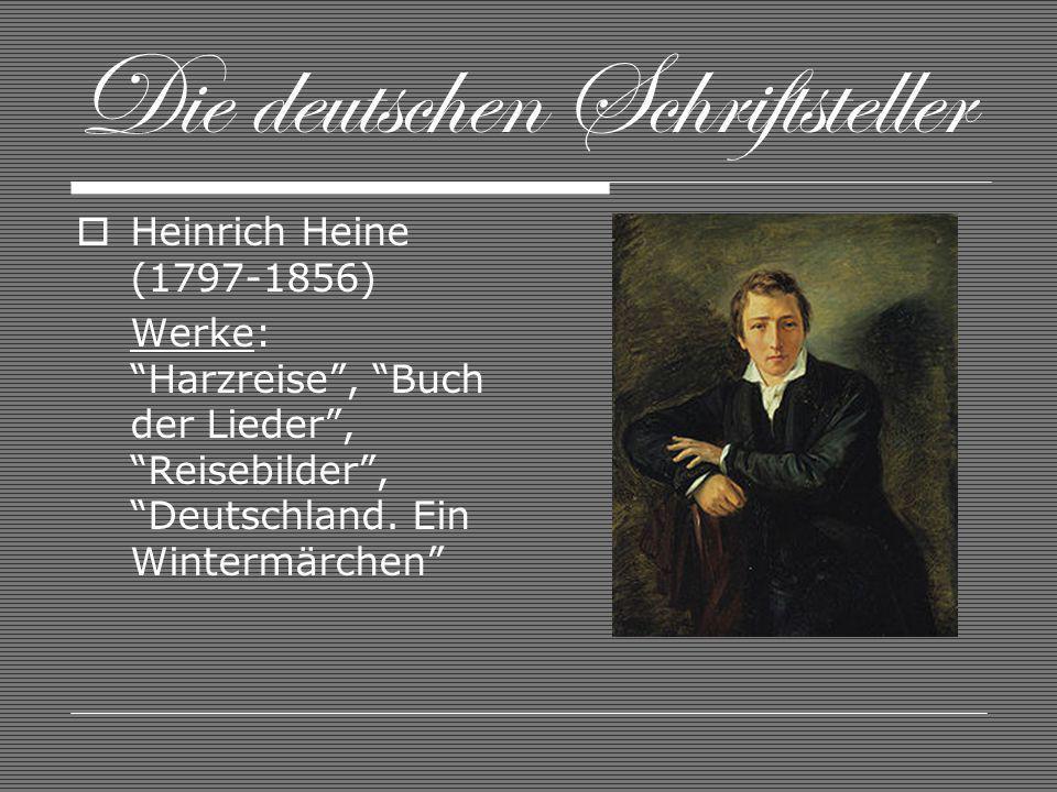 Die deutschen Schriftsteller
